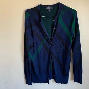 EUC Size Medium Tall Blue button front Cardigan